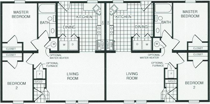 Prestige manufactured homes duplex 7264 for Modular duplex floor plans
